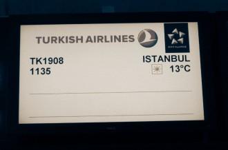 Flight TK1908 from Zurich to Istanbul