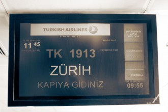 TK 1913 from Istanbul to Zurich